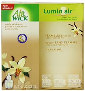AIR WICK® Lumin'AirTM Flameless Candle single unit, Vanilla Passion
