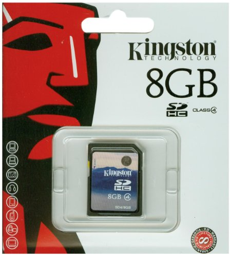 Kingston Speicherkarte SD4/8GB SDHC Klasse 4 - 8GB