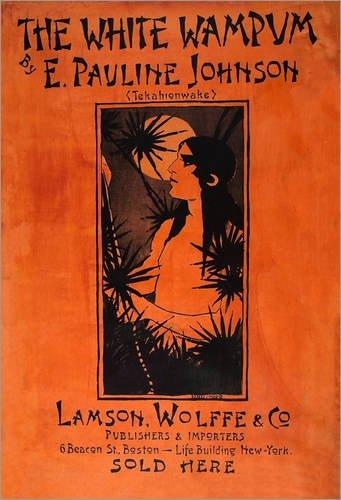 Stampa su acrilico 90 x 130 cm: The White Wampum di Ethel Reed