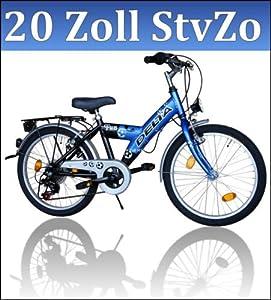 Fahrrad Blau Kinderfahrrad 20 Zoll Fahrrad 6 Gang Shimano 018 B