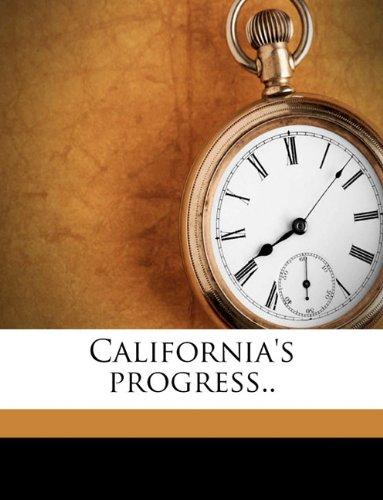 California's progress..