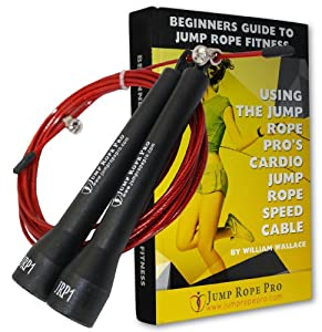 Buy Best Crossfit Jump Rope: Extra-Long Ten Foot Speed Cable For Champion Fitness Workout. Adjustable Length Fits Kids and... by Jump Rope Pro