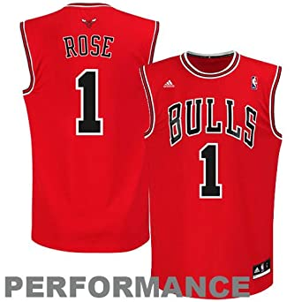 NBA Chicago Bulls Derrick Rose Road Replica Jersey Youth by adidas