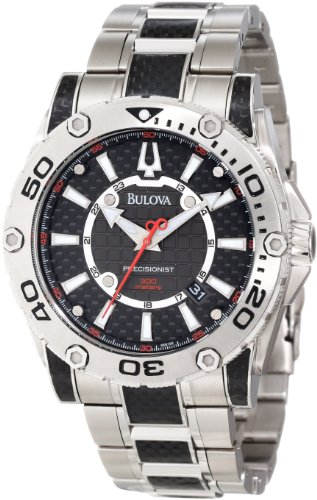 Bulova Men's 96B156 Precisionist Champlain Black carbon fiber Watch (Bulova Carbon Fiber Watch compare prices)