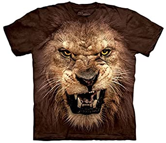 The Mountain - - T-shirt Roaring Lion Big Face Homme, Small, As Shown