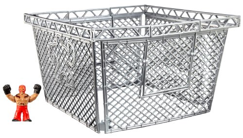 WWE Rumblers Rey Mysterio Figure with Deluxe Steel Cage Accessory (Wwe Rumblers Steel Cage compare prices)