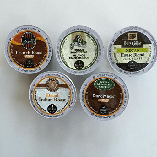 Top Brand Decaf Dark Roast K-Cup Variety Pack 50 Count (Tullys Italian Roast Decaf K Cups compare prices)