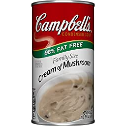 Campbell\'s 98% Fat Free Condensed Soup, Cream of Mushroom, Family Size, 22.6 Ounce (Pack of 12)
