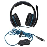 Sades Professional Headset Pro Games Headset With Stereo 7.1 Surround Built in Omni-Directional Polar Pattern Microphone
