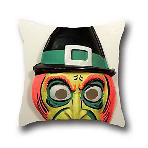 Boxing George Halloween Mask Decorative Cotton Blend Pillow Cover Pillowcase For Sofa Fashion 20*20 (Custom Halloween Masks Photo)