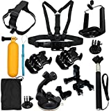 LotFancy 8-in-1 Sports Camera Accessories Kit for Gopro Hero 4 3 3+ 2 1 SJ4000 SJ5000 HD Action Video Cameras DVR