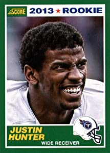 2013 Score NFL Football Trading Card # 383 Justin Hunter Rookie Tennessee Titans