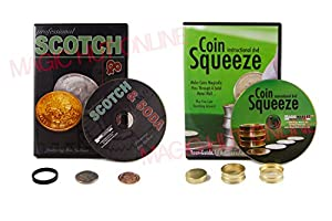 Scotch And Soda Magic Trick + Coin Squeeze Magic Trick - Coin Tricks
