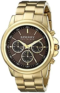 Sperry Top-Sider Men's 10018651 Halyard Analog Display Japanese Quartz Gold Watch from Sperry Top-Sider Watches MFG Code