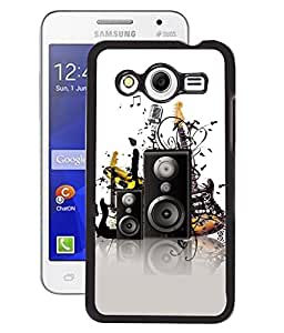 Fuson 2D Printed Music Instrument Designer Back Case Cover for Samsung Galaxy Core 2 - D694