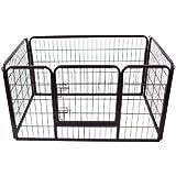 Outsunny recinzione per cuccioli cani gatti gabbia box for Recinto per cani amazon