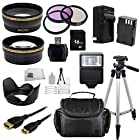 16GB Deluxe Starter Accessory Kit for Pentax SLR 645D K-01 K-3 K-5 K-5 II K-5 IIs K-7 K-S1 (Which have Pentax 18-55mm or 50mm f/1.8 Lenses). Includes Wide Angle & Telephoto Lenses + 3 Piece Filter Kit (UV-CPL-FLD) + Extended Life Replacement Battery(D-LI90) + Mini HDMI + Carrying Case + Full size Tripod + More