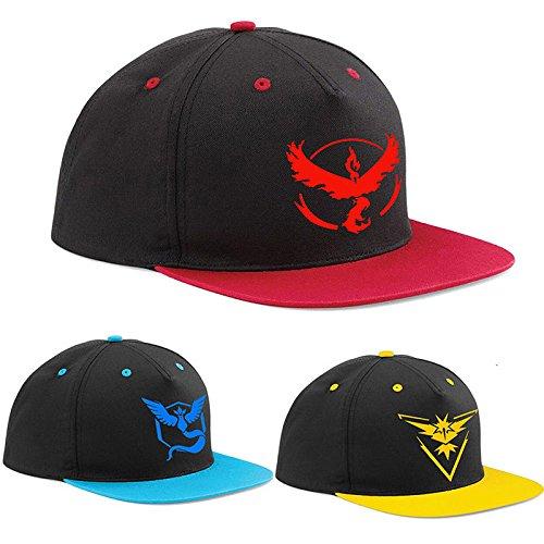 Official Pokemon Go Emblem Unisex (Team Valor, Mystic and Instict) Baseball Cap Hat (Mystic (Blue))
