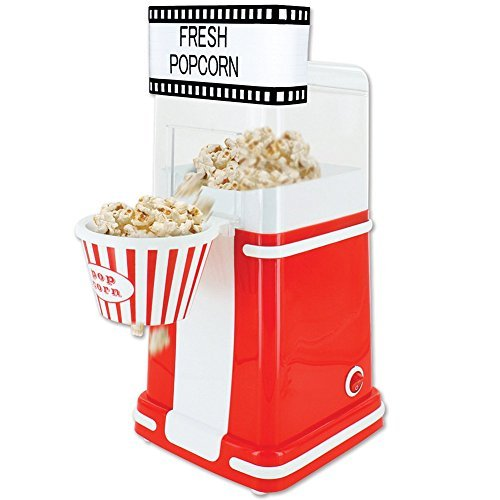 Old Time Movie Theatre Themed Personal Hot Air Popper Popcorn Maker For Home (Theatre Popcorn Machine compare prices)