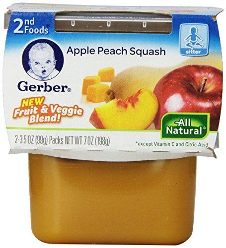 Gerber 2nd Foods Apple Peach Squash, 7 Ounce - 1