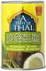 Taste of  Thai Lite Coconut Milk, 13.5000-Ounce (Pack of 12)