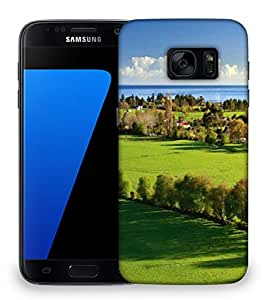 Snoogg Abstract Green Garden Designer Protective Phone Back Case Cover For Samsung Galaxy S7