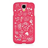 HSD Ultra Slim Fit Cartoon Pattern Plastic Hard Case for Samsung Galaxy S4 SIV I9500 / I9505 / SGH-i337 (Hot Pink)