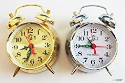 826 Cute Daily use Twin Bell Metal Alarm Clock (Gold)