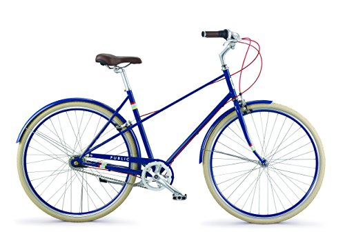 "Find Cheap PUBLIC Bikes M7i Mixte Style Step-Over 7-Speed City Bike, 18.5""/Small, Royal Blue (2..."