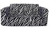 Fun Furnishings 55224 Toddler Flip Sofa, Zebra