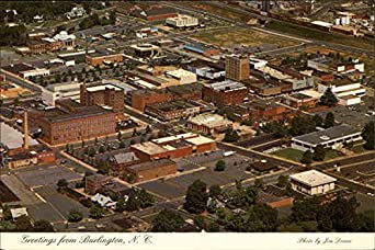 aerial view burlington north carolina original vintage