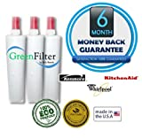 Whirlpool Kenmore 4396508, 4396510, 4392857, WF-NL240V, WF285, QTSS Compatible Water Filter 3 Pack