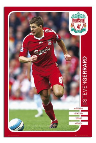 Gloss Laminated – Steven Garrard Liverpool FC Poster 08/09 – 36 x 24 Inches (91.5 x 61 cms)