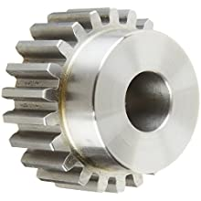 Boston Gear Spur Gear, 14.5 Degree Pressure Angle, Steel, Inch, 12 Pitch