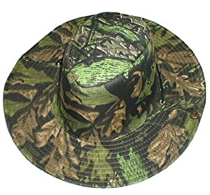 Camo Two-Way Boonie Hat ~ Safari Aussie Outback Cap ~ Jungle Pattern