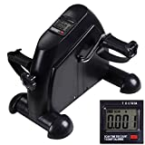 AMPERSAND Leg / Arm Strengthener Portable Cardio Exercise Indoor Mini Machine Bike Pedal (Black) (Color: Black)