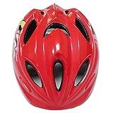 12ベントヘルメット 子ども 用 キッズ 幼児 Aliciga 可愛い自転車ヘルメット 軽量 サイクリングヘルメット 調整可能 (レッド)