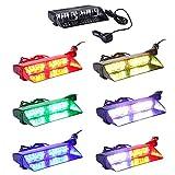 KAFEEK 6 Colors 48 Flashing Mode Free switching!Emergency Vehicle Dash Warning Strobe LED Flash Light Safety