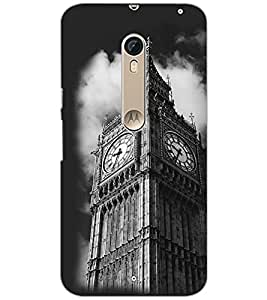PrintDhaba Clock Tower D-2432 Back Case Cover for MOTOROLA MOTO X STYLE (Multi-Coloured)