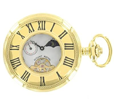 Mount Royal Pocket Watch B31P Gold Plated Half Hunter