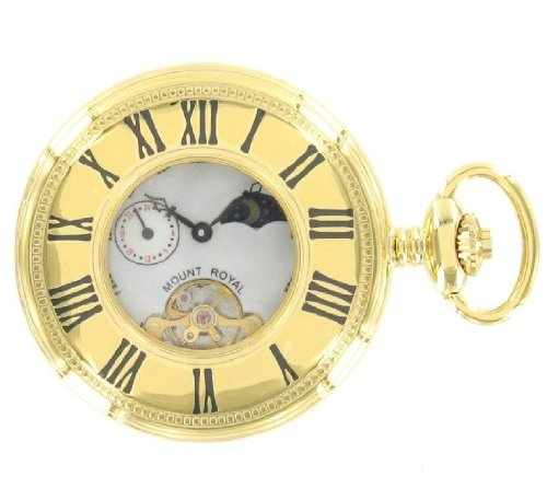 Gold Plated Mechanical Half Hunter Pocket Watch B31gp
