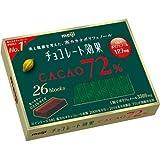 【ケース販売】明治 チョコレート効果 カカオ72% 26枚入り×6個