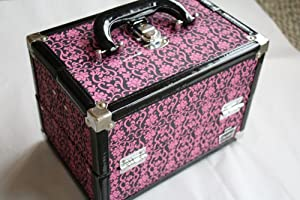 Click Here For Cheap Caboodles Pink Lace Rock Star Train Makeup Organizer Case For Sale