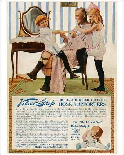 Photographic Print of Garter advertisement, early 1900s from North Wind Picture Archives
