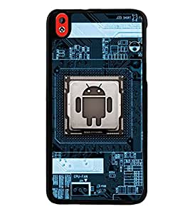Fuson Premium 2D Back Case Cover Mother board With Brown Background Degined For HTC Desire 816::HTC Desire 816 G