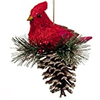 Bird with Pinecone Ornament