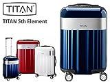 TITAN タイタン スーツケース TAITAN 80040312-54 5TH ELEMENT 360° 4Trolley 54cm サイズS 4輪 TSAロック ルビーレッド