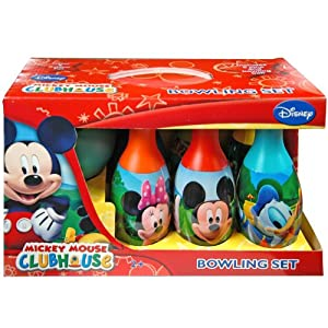 Bowling Set in Display Box 6 Pins and Bowling Ball: Mickey Mouse Clubhouse