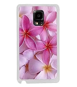 Pink Flower 2D Hard Polycarbonate Designer Back Case Cover for Samsung Galaxy Note Edge :: Samsung Galaxy Note Edge N915FY N915A N915T N915K/N915L/N915S N915G N915D