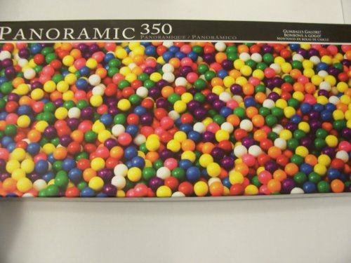 Panoramic 350 Piece Puzzle ~ Gumballs Galore!